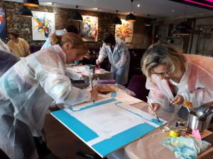 Atelier créatif, récréatif et constructif lors d'un séminaire